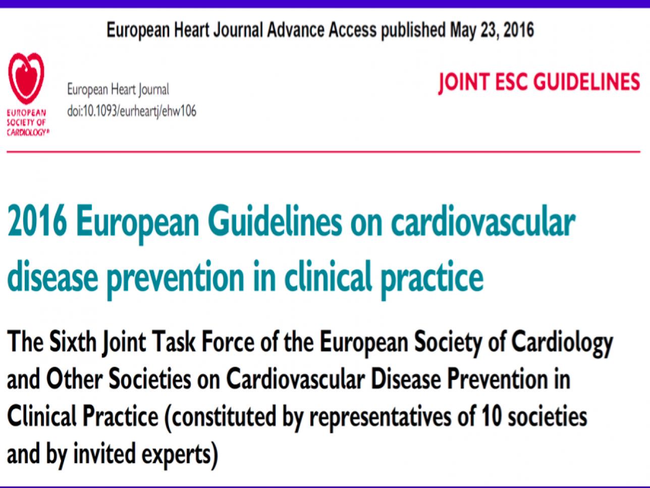 Linee Guida ESC sulla Prevenzione Cardiovascolare nella..