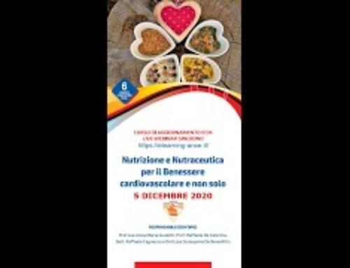 Formazione a Distanza (FAD): ANCE PUGLIA – NUTRIZIONE E NUTRACEUTICA PER IL BENE CARDIOVASCOLARE E NON SOLO: 5 DICEMBRE 2020