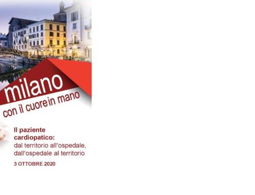 WEBINAR MILANO CON IL CUORE IN MANO: 3 OTTOBRE 2020: